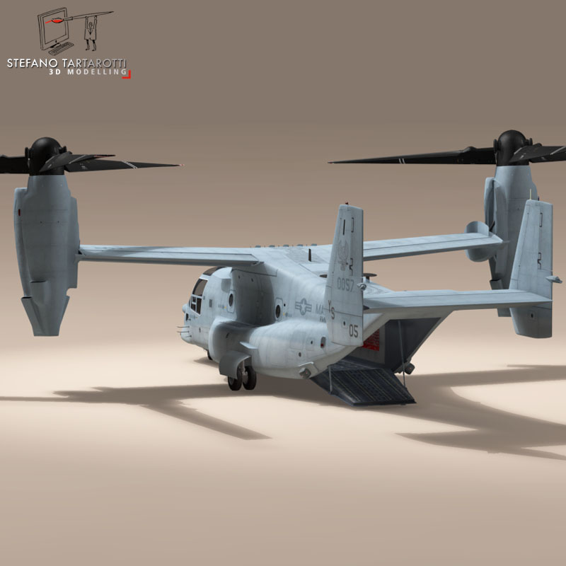 v-22 osprey us marines 3d model 3ds dxf fbx c4d dae obj 153329