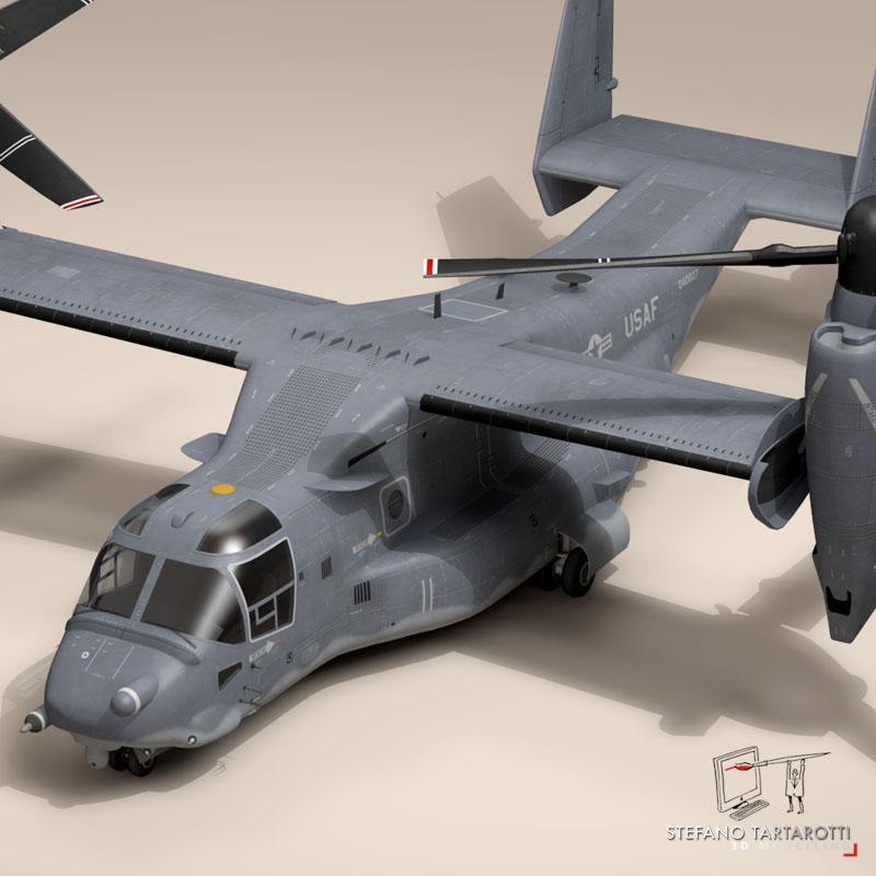 v-22 osprey usaf 3d model 3ds dxf fbx c4d dae obj 153170