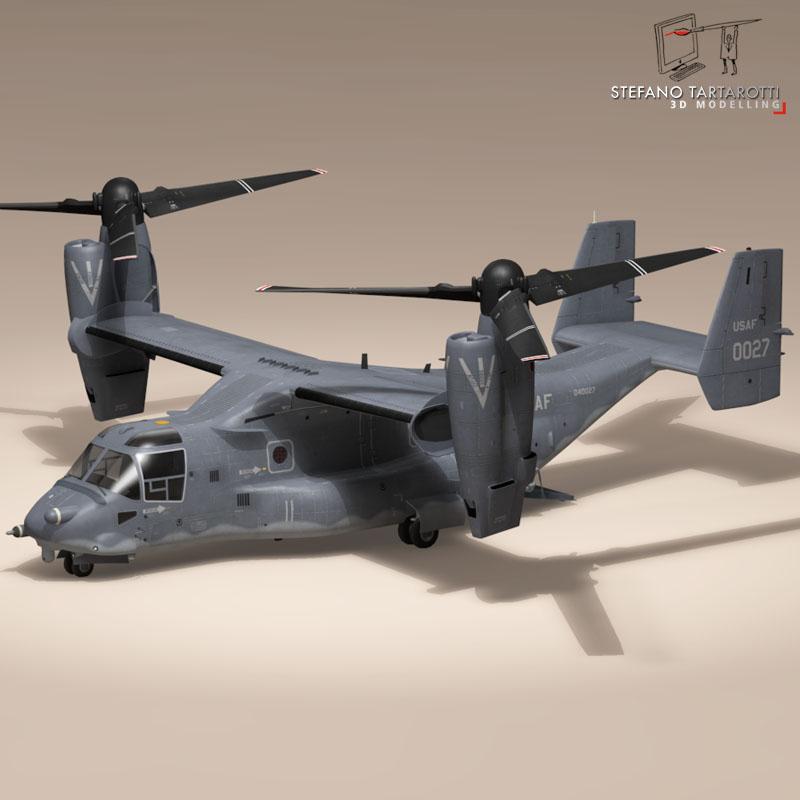 v-22 osprey usaf 3d model 3ds dxf fbx c4d dae obj 153171