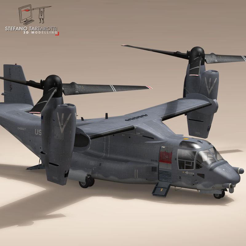 v-22 osprey usaf 3d model 3ds dxf fbx c4d dae obj 153172