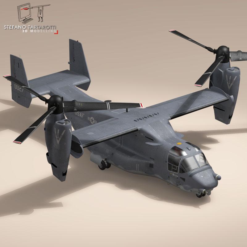 v-22 osprey usaf 3d model 3ds dxf fbx c4d dae obj 153173