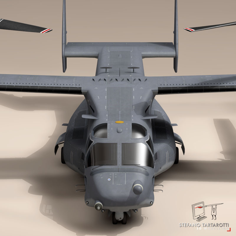 v-22 osprey usaf 3d model 3ds dxf fbx c4d dae obj 153174