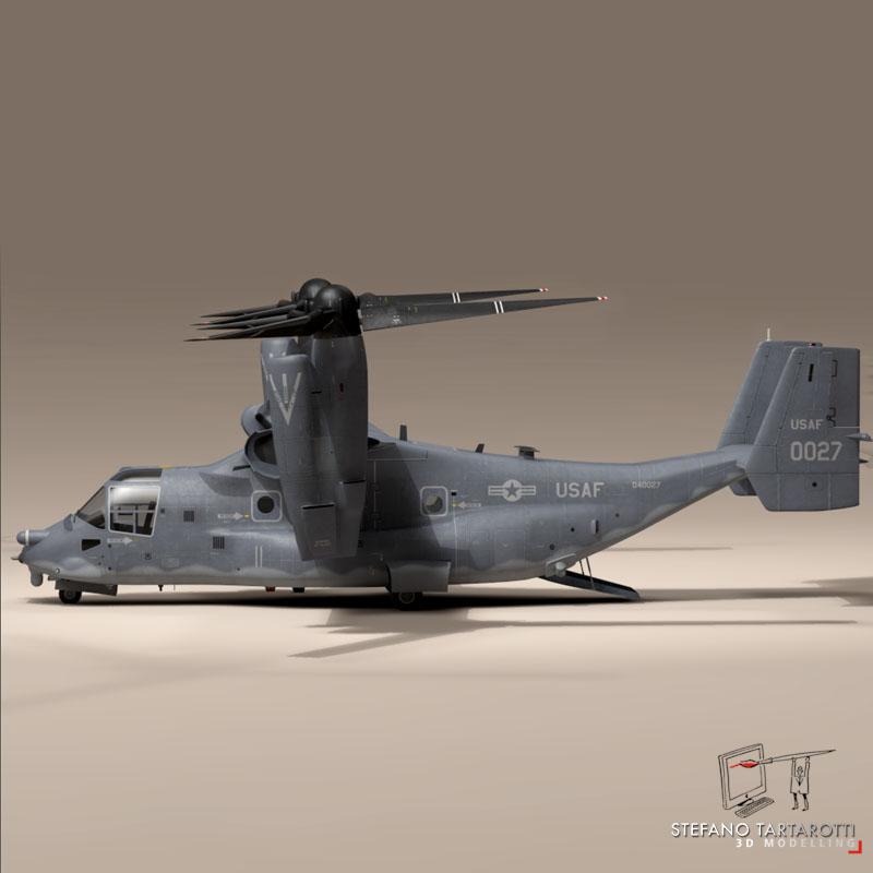 v-22 osprey usaf 3d model 3ds dxf fbx c4d dae obj 153175
