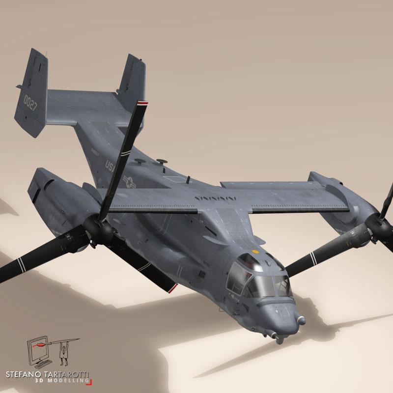v-22 osprey usaf 3d model 3ds dxf fbx c4d dae obj 153177