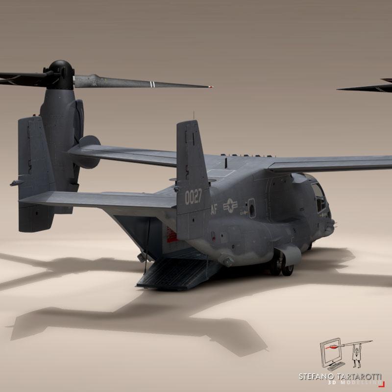 v-22 osprey usaf 3d model 3ds dxf fbx c4d dae obj 153178