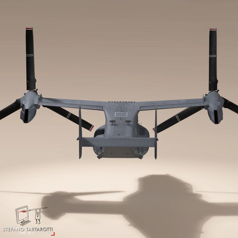 v-22 osprey usaf 3d model 3ds dxf fbx c4d dae obj 153179
