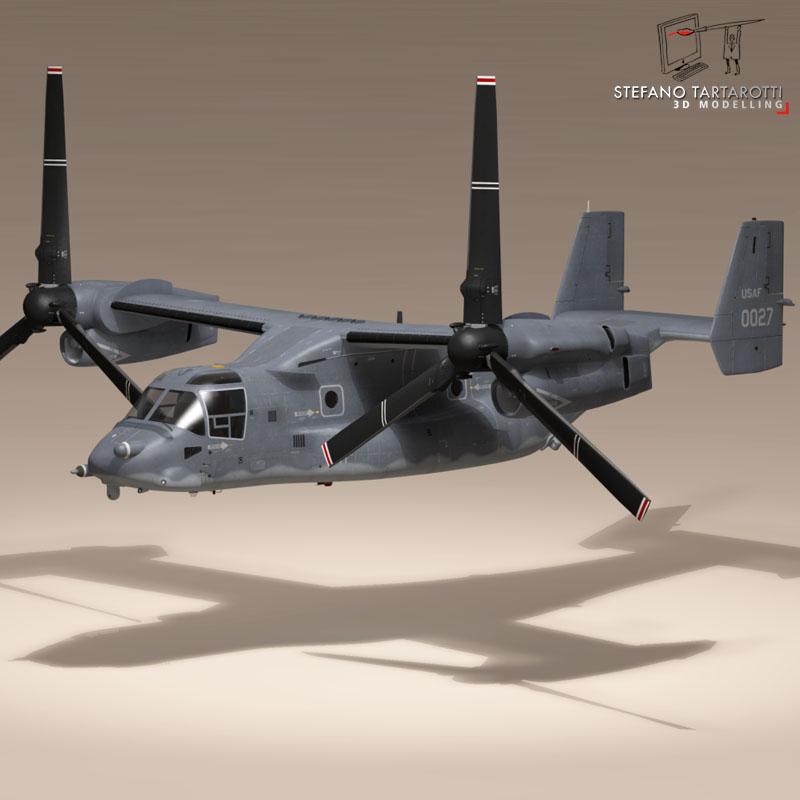 v-22 osprey usaf 3d model 3ds dxf fbx c4d dae obj 153180