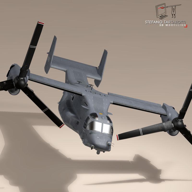 v-22 osprey usaf 3d model 3ds dxf fbx c4d dae obj 153181