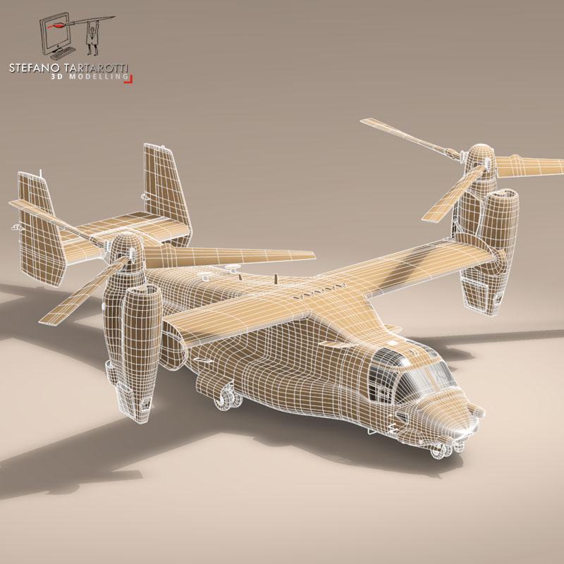 v-22 osprey usaf 3d model 3ds dxf fbx c4d dae obj 153182