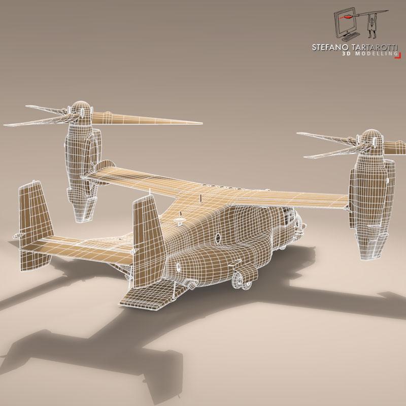 v-22 osprey usaf 3d model 3ds dxf fbx c4d dae obj 153183