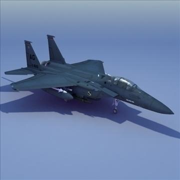 f15e jet eagle jet 3d model 3ds max fbx lwo ma mb hrc xsi texture obj 107709