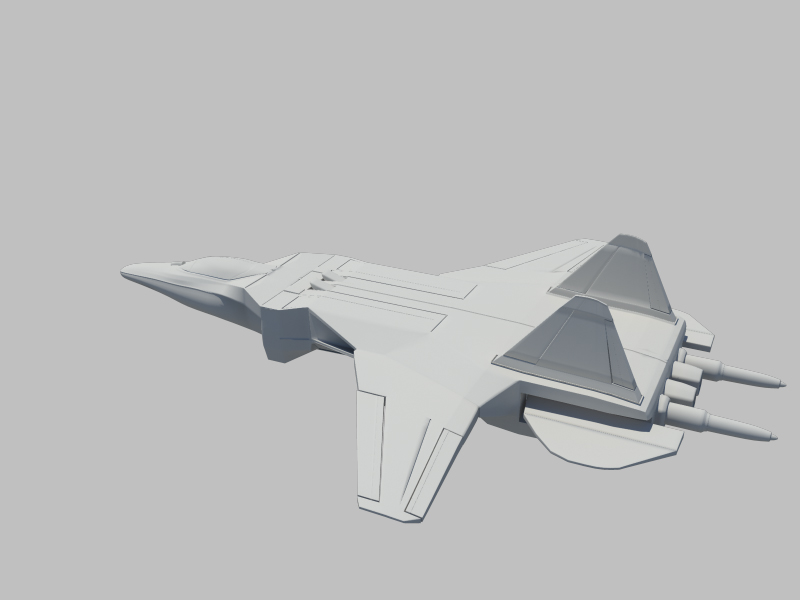 jetfighter_1 3d model fbx da ma ma mb obN 116312