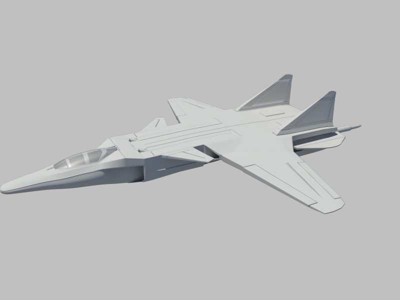 jetfighter_2 3d model fbx da ma ma mb obN 116314