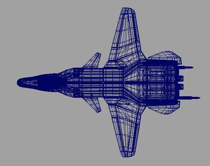 jetfighter_2 3d model fbx dae ma mb obj 116315