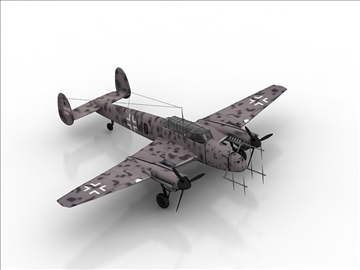 messerschmitt bf 110 3d model max 105886