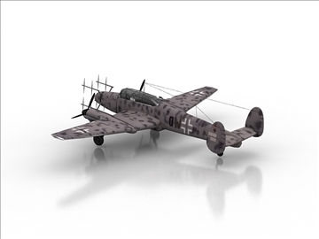 messerschmitt bf 110 3d model max 105887