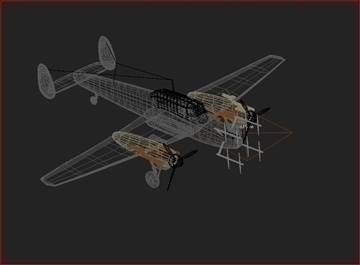 messerschmitt bf 110 3d model max 105888