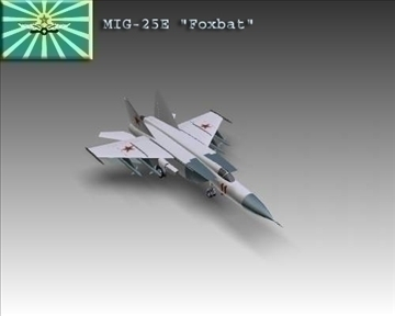 mig 25e foxbat soviet interceptor aircraft 3d model 3ds max x lwo ma mb obj 101437
