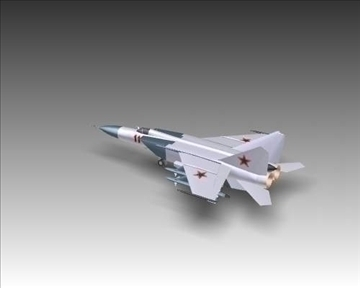 mig 25e foxbat soviet interceptor aircraft 3d model 3ds max x lwo ma mb obj 101438