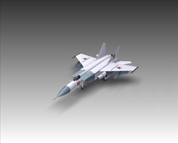 mig 25e foxbat soviet interceptor aircraft 3d model 3ds max x lwo ma mb obj 101439