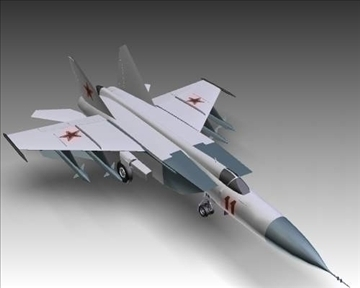 mig 25e foxbat soviet interceptor aircraft 3d model 3ds max x lwo ma mb obj 101440