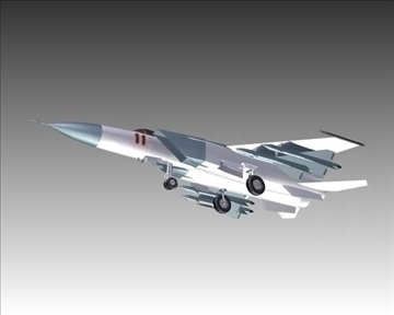 mig 25e foxbat soviet interceptor aircraft 3d model 3ds max x lwo ma mb obj 101441