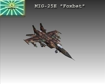 mig 25e foxbat soviet interceptor aircraft – number 2 3d model 3ds max x lwo ma mb obj 104230