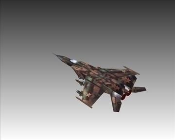 mig 25e foxbat зөвлөлтийн хөндлөнгийн нисэх онгоц - 2 3d загвар 3ds хамгийн их x lwo ma mb obN 104231