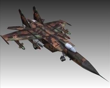 mig 25e foxbat зөвлөлтийн хөндлөнгийн нисэх онгоц - 2 3d загвар 3ds хамгийн их x lwo ma mb obN 104233