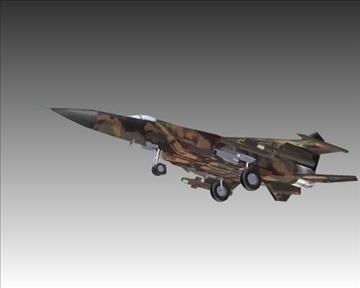 mig 25e foxbat зөвлөлтийн хөндлөнгийн нисэх онгоц - 2 3d загвар 3ds хамгийн их x lwo ma mb obN 104234