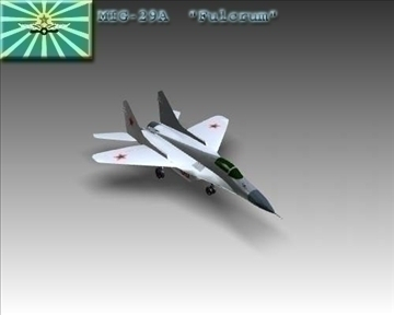 mig 29a fulcrum soviet interceptor aircraft 3d model 3ds max x lwo ma mb obj 111245