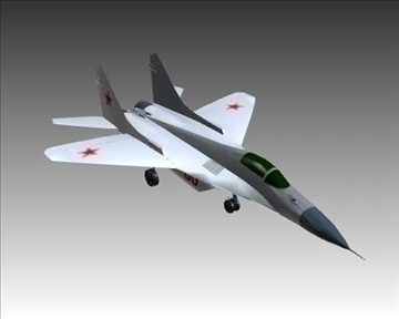 mig 29a fulcrum soviet interceptor aircraft 3d model 3ds max x lwo ma mb obj 111248