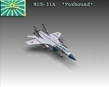 mig 31a foxhound soviet interceptor aircraft 3d model 3ds max x lwo ma mb obj 101336