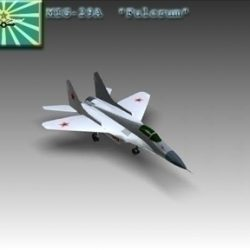 MiG 29A Fulcrum Soviet interceptor aircraft ( 33.53KB jpg by WarArt )