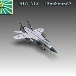 MiG 31A Foxhound Soviet interceptor aircraft ( 35.09KB jpg by WarArt )