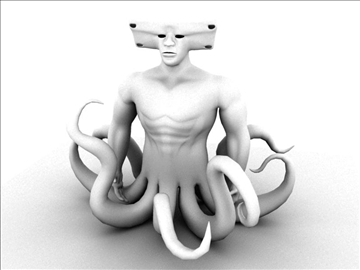 monster octopus 3d model ma mb 94098