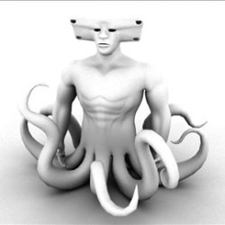 monster octopus ( 38.6KB jpg by vivek3d )