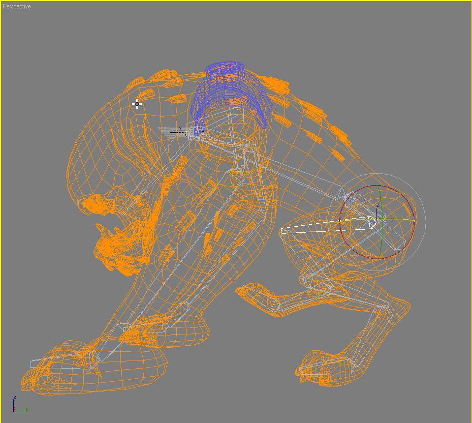 ben 10-wildmutt rigged 3d modelis 3ds max fbx lwo obj 150300