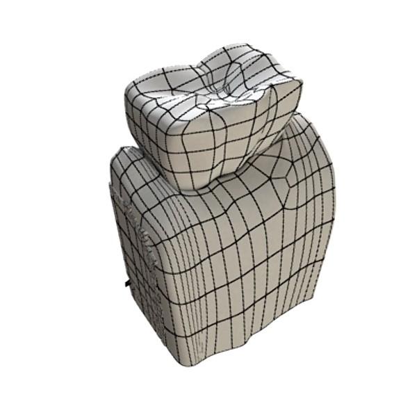 3D Model Cracked Tooth High Detail ( 52.72KB jpg by VKModels )