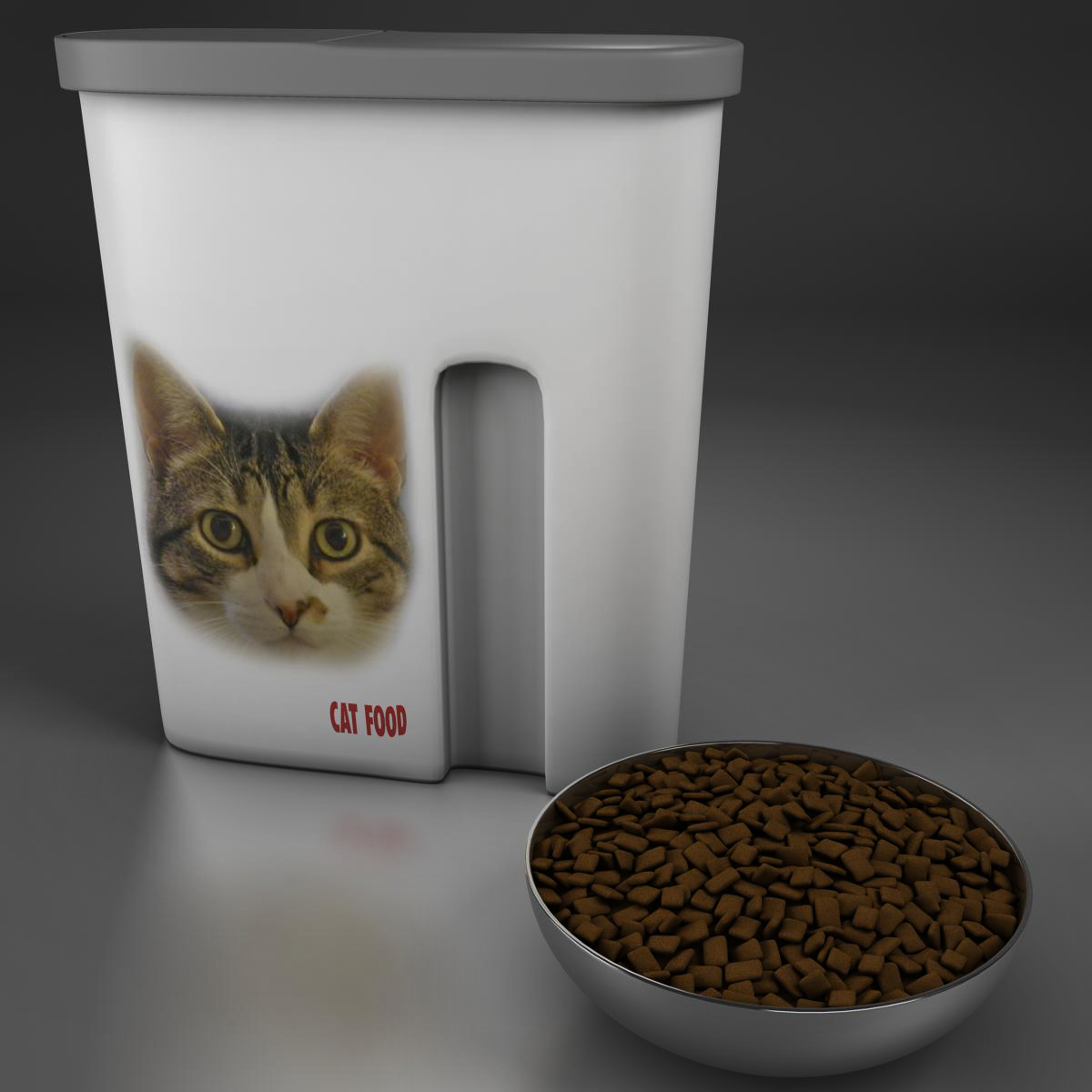 cat food 3d model 3ds max fbx c4d ma mb obj 159452
