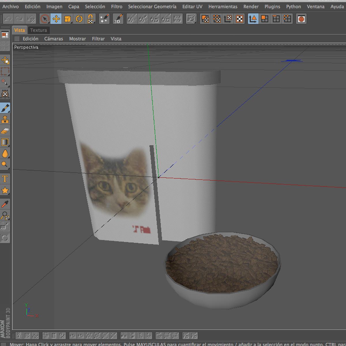 kaķu barība 3d modelis 3ds max fbx c4d ma mb obj 159465