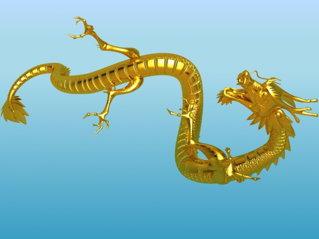 chinese dragon 02 3d model 3ds max fbx obj 124574
