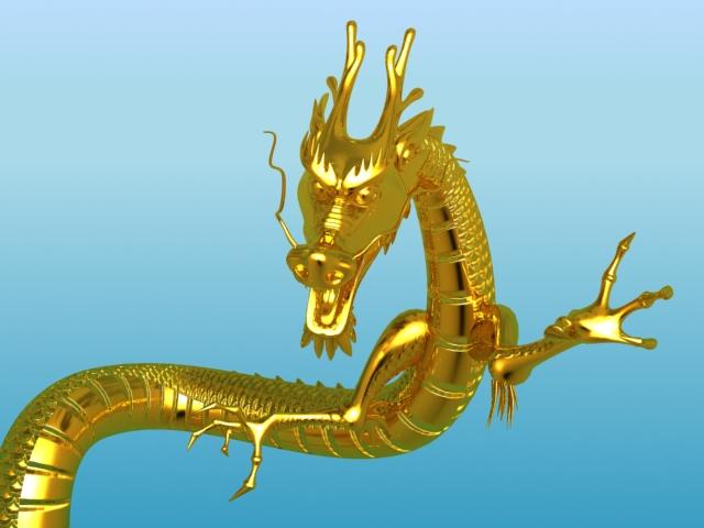 chinese dragon 02 3d model 3ds max fbx obj 124575