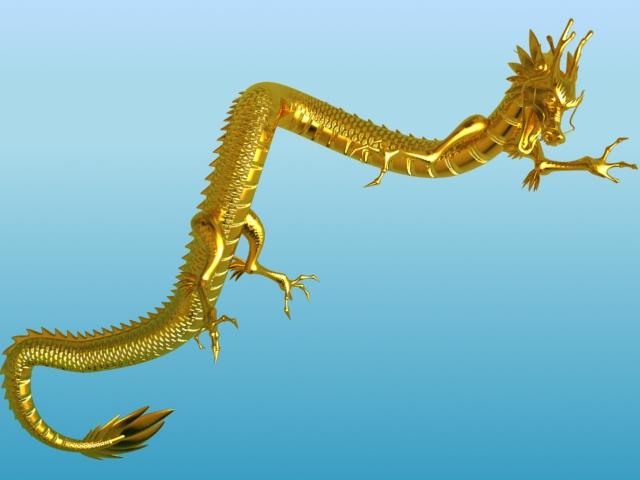 chinese dragon 02 3d model 3ds max fbx obj 124576
