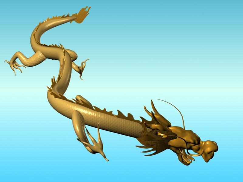 chinese dragon 02 3d model 3ds max fbx obj 124577
