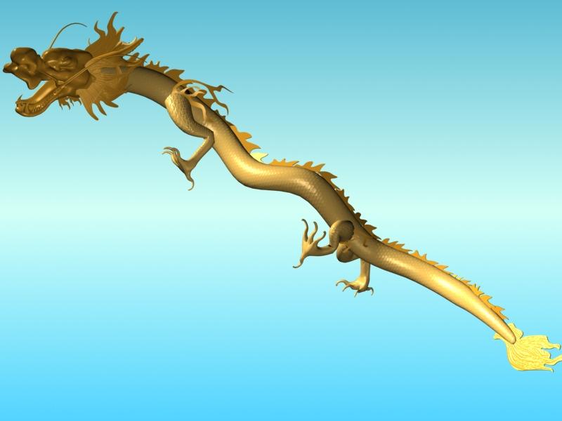 chinese dragon 02 3d model 3ds max fbx obj 124578