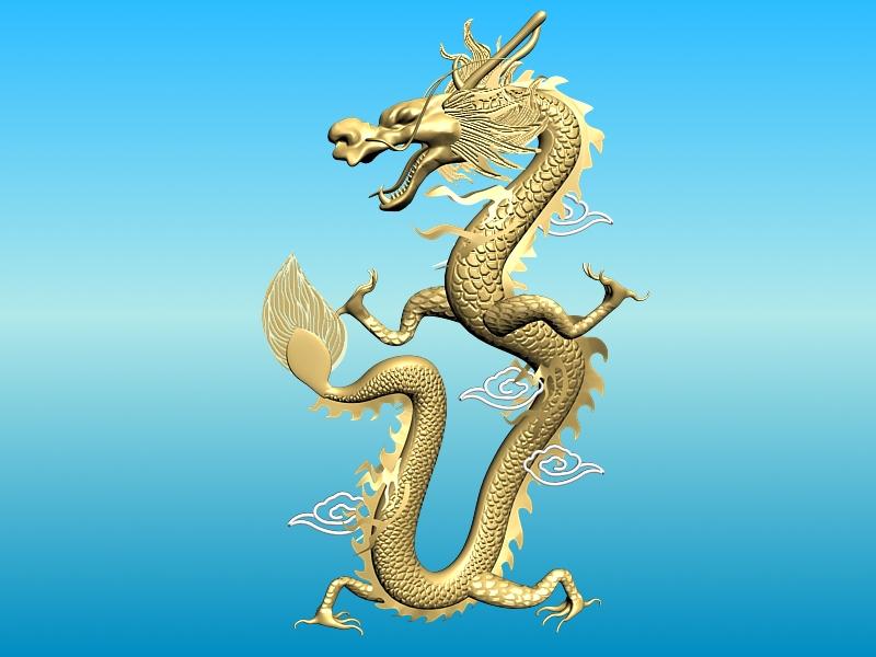 chinese dragon 02 3d model 3ds max fbx obj 124579
