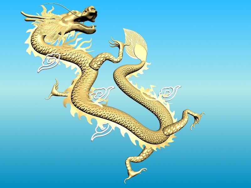 chinese dragon 02 3d model 3ds max fbx obj 124580