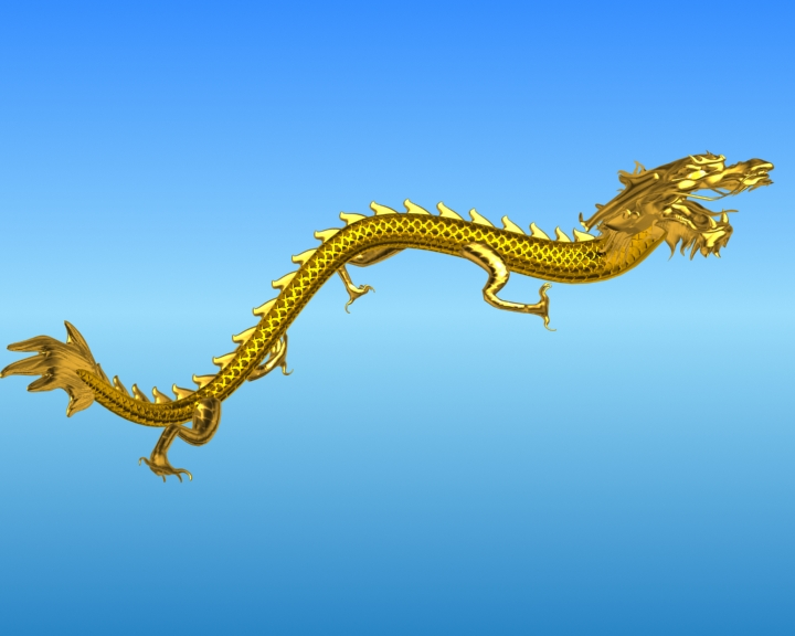 chinese dragon 03 3d model 3ds max fbx obj 124581