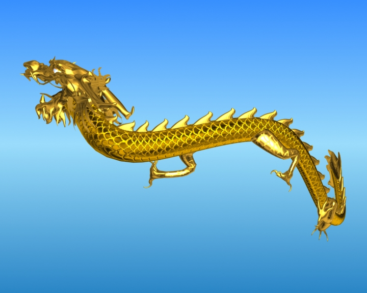 chinese dragon 03 3d model 3ds max fbx obj 124582